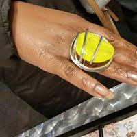 bague grosse perle de verre jaune toulouse marché de noel 2014