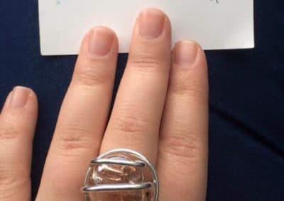 bague simple petite perle champagne marseille marché de noel 2015