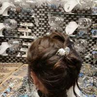 epingle deux perles de verre blanc double chignon toulouse 2014