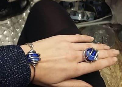 parure bracelet bague bleu marine toulouse marche de noel 2015