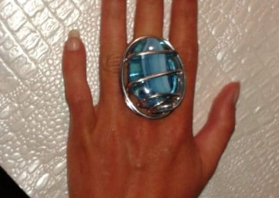bague grosse perle turquoise marche noel toulouse 2014
