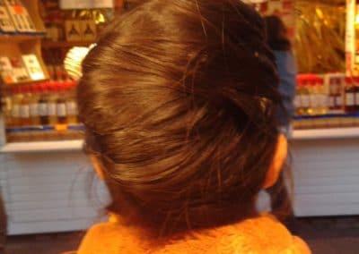 cheveux longs et epais toulouse marche de noel 2013 chignon realisé