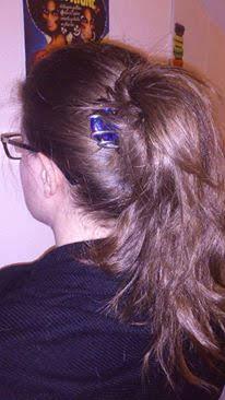epingle grosse perle bleue marine queue de cheval toulouse 2012