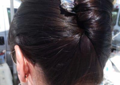 epingle perle de verre transparente chignon babane cheveux bruns Marseille Vieux Port 2014