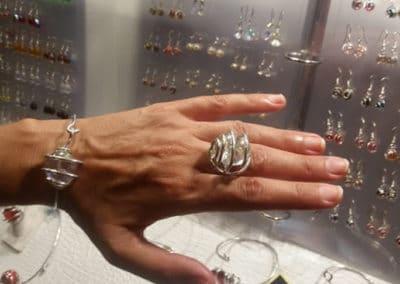 parure bracelet bague perle de verre transparente sanary sur mer 2016 port